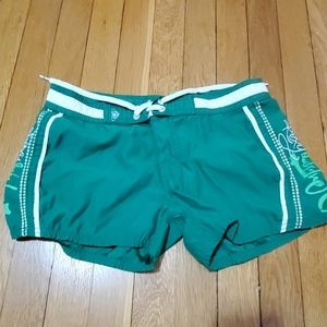 Roxy size 1 women green shorts